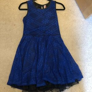 Royal blue event dress